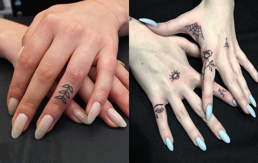 Tatuagens pequenas e delicadas Nas Mãos