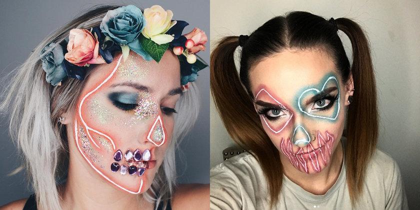 Amado Maquiagem neon é tendência para o Halloween; se inspire nessas 18  KT01