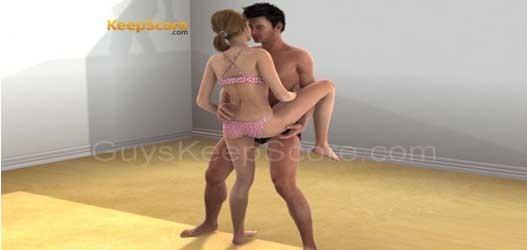 Sexo tipo bailarina, com a perna levantada, é posição ideal para o banho