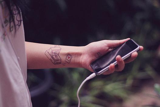 tatuagem de polaroid