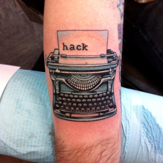 tatuagem para quem ama escrever