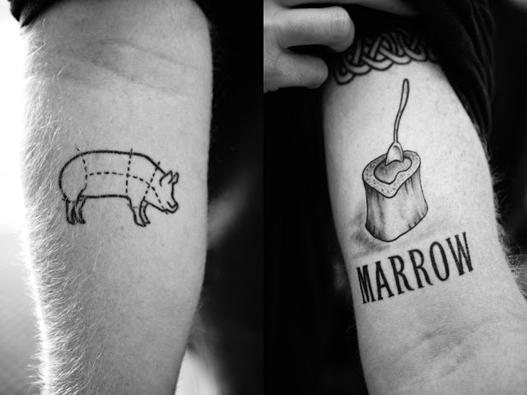 tatuagem de gastronomia